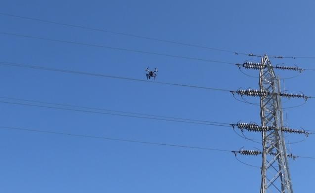 送電線点検用ドローン自動飛行システム
